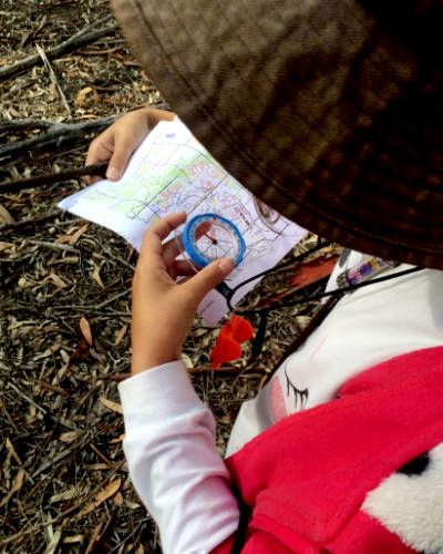 CHIP Geelong Child With Orienteering Map